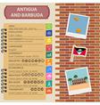 Antigua and Barbuda infographics statistical data vector image