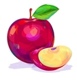 Apple hand drawn on a white background vector image vector image
