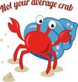 Average Crab vector image