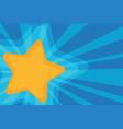 background yellow star pop art vector image vector image