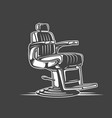 barber chair isolated on black background vector image vector image