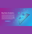 big data analytics infographicai or artificial vector image