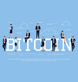 bitcoin business concept vector image