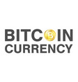 bitcoin currency logo on a white background vector image vector image