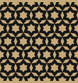 black and gold stars pattern seamless ornamental vector image vector image