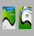 blue black business card vector image