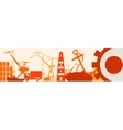 Cargo port relative icons set Japan flag in gear vector image vector image