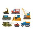 Caterpillar vehicle tractor vector image vector image