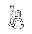 chemistry icon doodle hand drawn or outline icon vector image