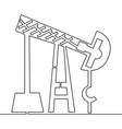 continuous line drawing oil derrick pump concept vector image vector image