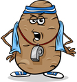 couch potato saying humor cartoon vector image