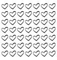 Cute decorative heart vector image