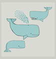 Cute whales made in vector image
