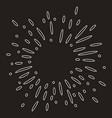 doodle design element starburst doodle firework vector image