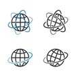 Earth Globe Emblem Set vector image vector image