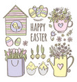 easter has come holiday cartoon clip art vector image