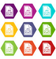 file jpg icon set color hexahedron vector image