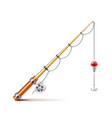 Fishing rod isolated on white vector image vector image