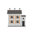 flat private house cottage building vector image vector image