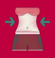 flat shading style icon woman body diet vector image vector image