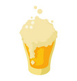 glass of fresh beer icon isometric style vector image