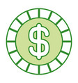 golden coin money dollar cash icon vector image