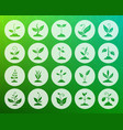 grass shape carved flat icons set vector image vector image
