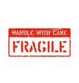 grunge box sign vintage fragile symbol vector image vector image