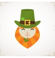 happy St Patricks day Irish man with beer St vector image vector image