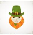 happy St Patricks day Irish man with beer St vector image