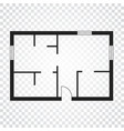 house plan simple flat icon on white background vector image vector image