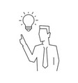 idea came to businessman line on vector image