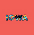 iowa concept word art vector image vector image