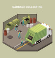 isometric garbage recycling composition vector image vector image
