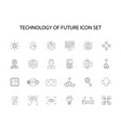 line icons set technology of future pack vector image vector image