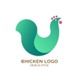 Logo green chicken vector image vector image