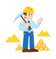 miner cripto currency bitcoin vector image vector image