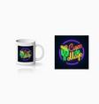 neon summer print sinco de mayo holiday sign vector image vector image