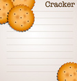 Paper design with crackers vector image vector image