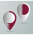 paper of map marker for maps qatar vector image