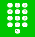 phone keypad for touchscreens vector image