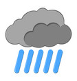 rain with cloud icon weather label for web on vector image
