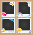 realistic photo frames for children vector image vector image