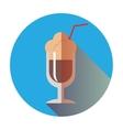 retro coffee latte icon vector image vector image