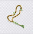 rosary isolated on white background islamic vector image