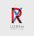 rx logo letters with blue and red gradation vector image vector image