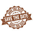 save the date stamp sign seal vector image vector image