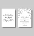 set wedding invitation cardsave date vector image