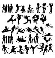 silhouettes athletes and sportspeople vector image vector image