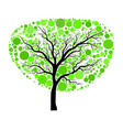 spring green tree isolated on white background vector image